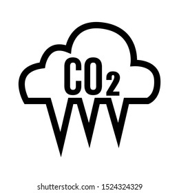 Co2, Carbon Dioxide Emission Reduction Vector Icon