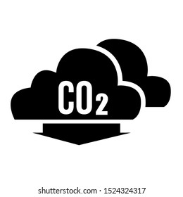 Co2, Carbon Dioxide Emission Vector Icon