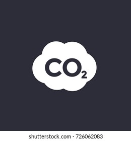 co2, carbon dioxide emissions icon
