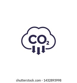 co2, carbon dioxide emissions, vector icon