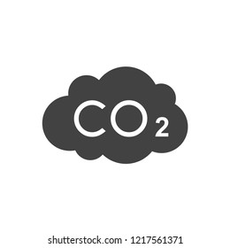 CO2 carbon dioxide icon vector