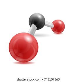 CO2 Carbon Dioxide molecule 3d illustration