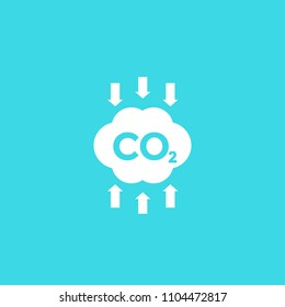 co2, carbon emissions reduction, vector