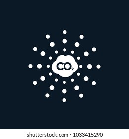 co2, carbon emissions vector icon