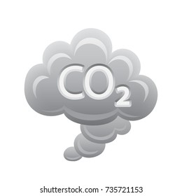CO2 Cloud -  of the Realistic Icons Collection . A professional, realistic, pixel aligned icon.