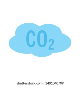 CO2 cloud vector icon. filled flat sign for mobile concept and web design. CO2 carbon dioxide glyph icon. Symbol, logo illustration. Pixel perfect vector graphics
