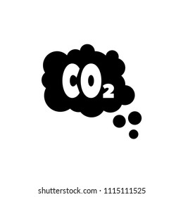 CO2 Emissions Cloud, Smog Pollution. Flat Vector Icon illustration. Simple black symbol on white background. CO2 Emissions Cloud, Smog Pollution sign design template for web and mobile UI element