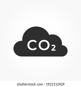 co2 emissions icon. carbon dioxide pollution. ecology and environment symbol. isolated vector image in flat style