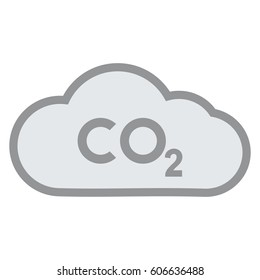 co2 emissions icon cloud vector