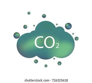 Co2 emissions icon cloud vector flat, carbon dioxide emits symbol, smog pollution concept, smoke pollutant damage