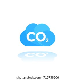 co2 emissions icon on white