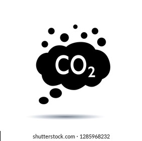 Co2 emissions Icons. Vector