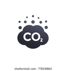co2 emissions vector icon