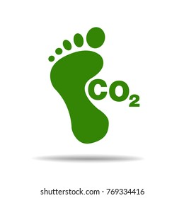 CO2 footprint concept