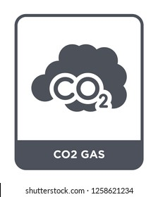 co2 gas icon vector on white background, co2 gas trendy filled icons from Meteorology collection, co2 gas simple element illustration