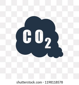 CO2 Gas vector icon isolated on transparent background, CO2 Gas transparency concept can be used web and mobile
