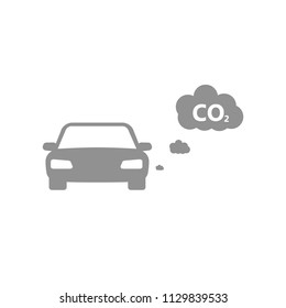CO2 icon with car
