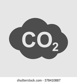 CO2 icon , carbon dioxide formula symbol , vector illustration, sign
