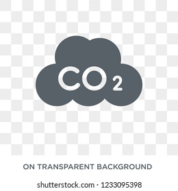 Co2 icon. Co2 design concept from  collection. Simple element vector illustration on transparent background.