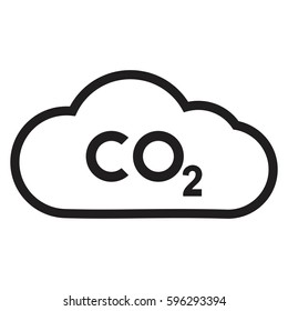 CO2 icon ,co2 emissions icon cloud