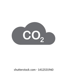 CO2 icon, logo vector template