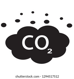 co2 icon on white background. flat style. carbon dioxide icon for your web site design, logo, app, UI. Co2 emissions symbol. carbon emissions reduction sign.