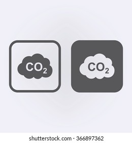 CO2 icon set . Vector illustration