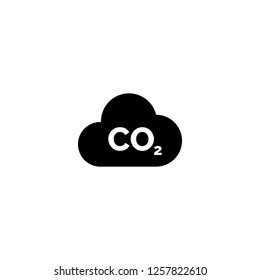 co2 icon vector. co2 vector graphic illustration