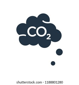Co2 icon vector isolated on white background for your web and mobile app design, Co2 logo concept