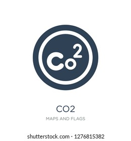 co2 icon vector on white background, co2 trendy filled icons from Maps and Flags collection, co2 vector illustration