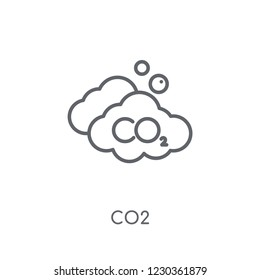Co2 linear icon. Modern outline Co2 logo concept on white background from Industry collection. Suitable for use on web apps, mobile apps and print media.