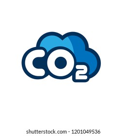 Co2 logo design.Co2 icon.cartoon style