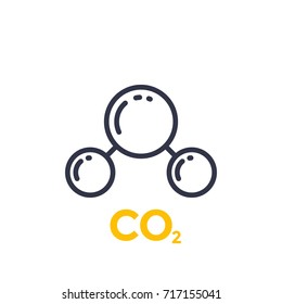 co2 molecule line icon