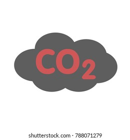 co2 pollution sign - environment icon