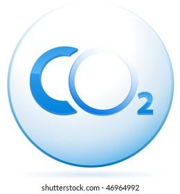 CO2 sign - vector illustration