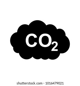 CO2 symbol in cloud