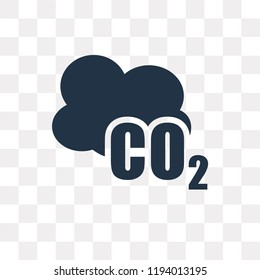Co2 vector icon isolated on transparent background, Co2 transparency concept can be used web and mobile