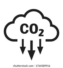 Co2 vector icon isolated on white background
