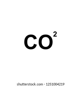 CO2 vector icon. CO2 sign on white background. CO2 icon for web and app