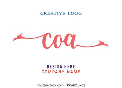 COA lettering logo is simple, easy to understand and authoritative