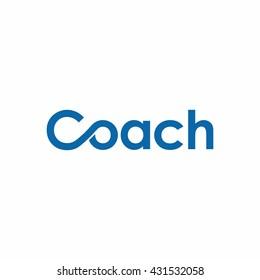 coach letter logo vector