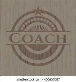 Coach wood emblem. Vintage.