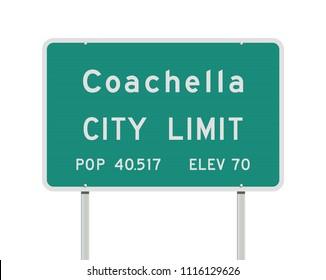 Coachella City Limits road sign