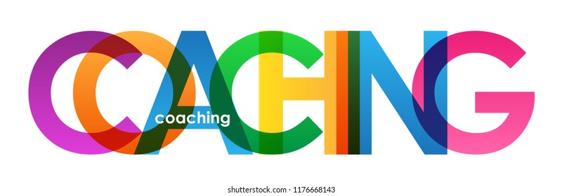 COACHING colorful letters banner