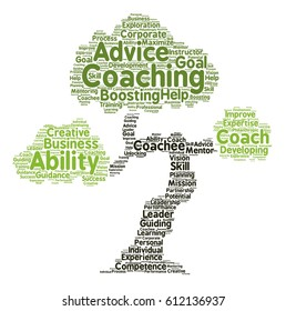 Coaching word cloud Tree typography