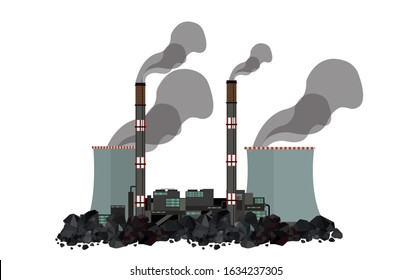 Coal Plant, Coal fired power station, fossil fuel power station