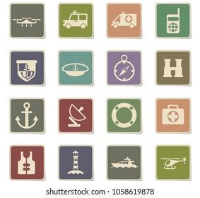 coastguard vector icons for user interface design