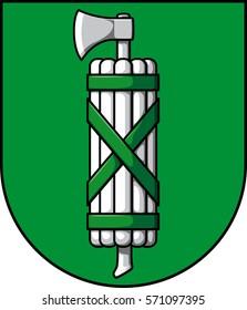 coat of arms of canton St. Gallen - vector