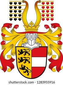 Coat of arms of Carinthia is the southernmost Austrian state or Land. Vector illustration
