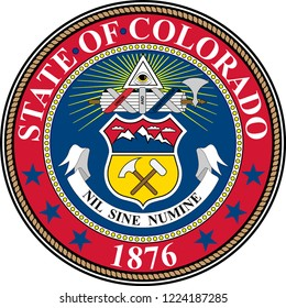 Coat of arms of Colorado in United States. Vector illustration